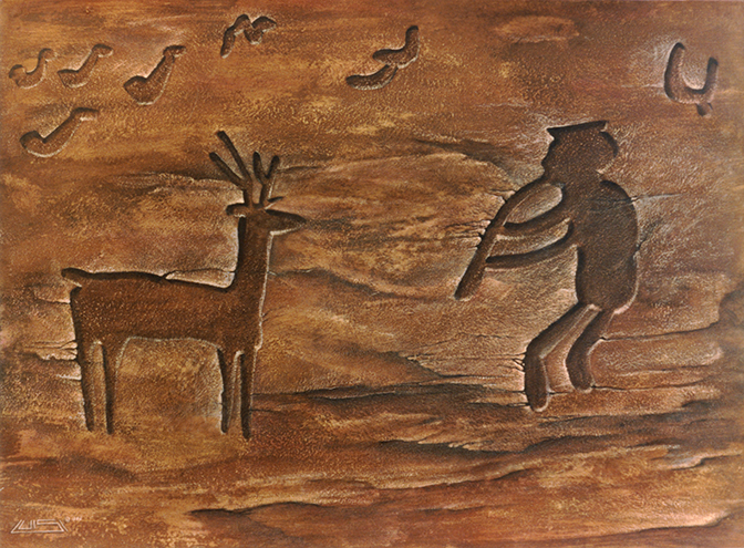 Petroglyph paintings (available).