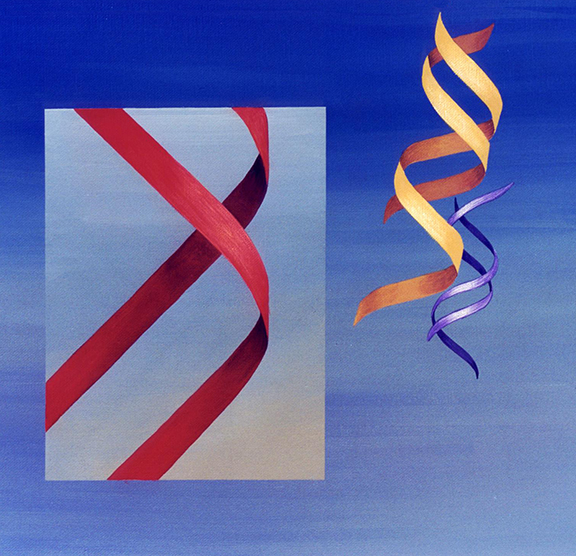 Abstract painting of DNA.