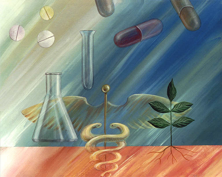 Pharmaceutical painting on canvas.